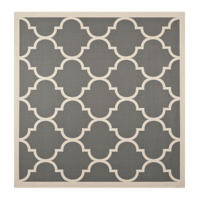 Safavieh Courtyard Collection Amias Geometric Indoor/Outdoor Square Area Rug