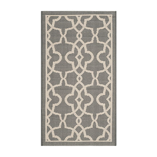 Safavieh Courtyard Collection Ariana Oriental Indoor/Outdoor Area Rug