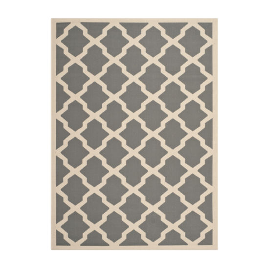 Safavieh Courtyard Collection Bailey Geometric Indoor/Outdoor Area Rug