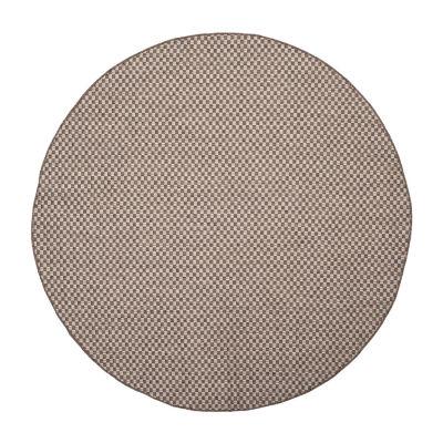 Safavieh Courtyard Collection Blanca Geometric Indoor/Outdoor Round Area Rug