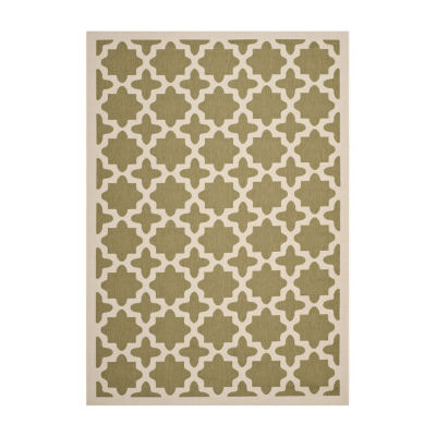 Safavieh Courtyard Collection Bokhara Geometric Indoor/Outdoor Area Rug
