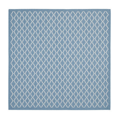Safavieh Courtyard Collection Bora Geometric Indoor/Outdoor Square Area Rug