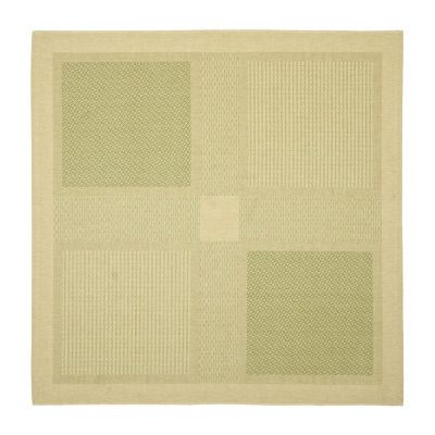 Safavieh Courtyard Collection Bronagh Geometric Indoor/Outdoor Square Area Rug
