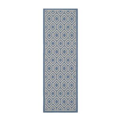Safavieh Courtyard Collection Carmella Geometric Indoor/Outdoor Runner Rug