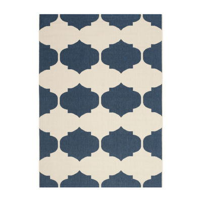 Safavieh Courtyard Collection Celina Geometric Indoor/Outdoor Area Rug
