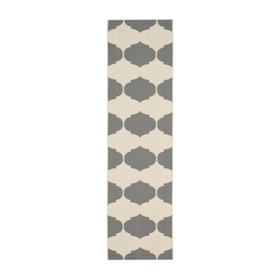 Safavieh Courtyard Collection Celina Geometric Indoor/Outdoor Runner Rug