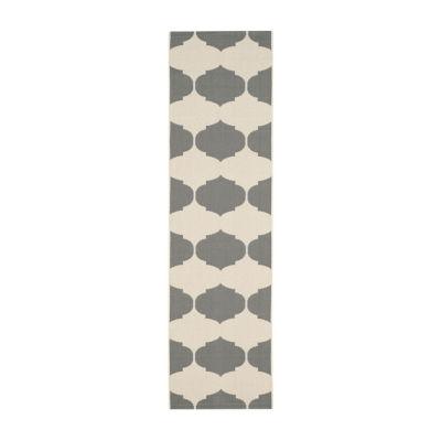 Safavieh Courtyard Collection Celina Geometric Indoor/Outdoor Runner Rug