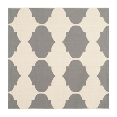 Safavieh Courtyard Collection Celina Geometric Indoor/Outdoor Square Area Rug