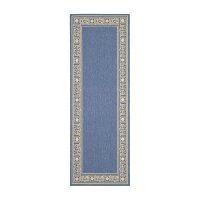 Safavieh Courtyard Collection Cherette Oriental Indoor/Outdoor Runner Rug