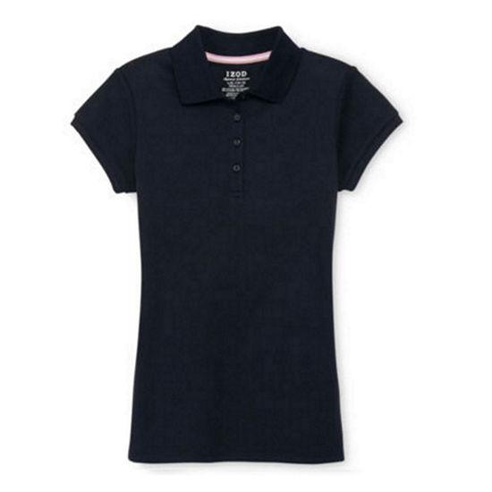 Izod Exclusive Big Girls Short Sleeve Polo Shirt