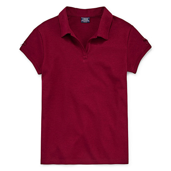 IZOD Little & Big Girls Short Sleeve Stretch Polo Shirt