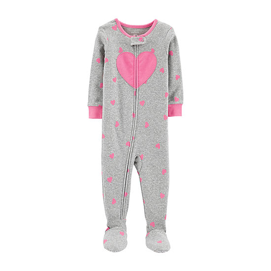 Carters Girls One Piece Pajama Long Sleeve Crew Neck