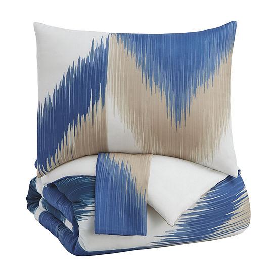 Signature Design by Ashley® Madya 3-Piece Stripe Comforter Set