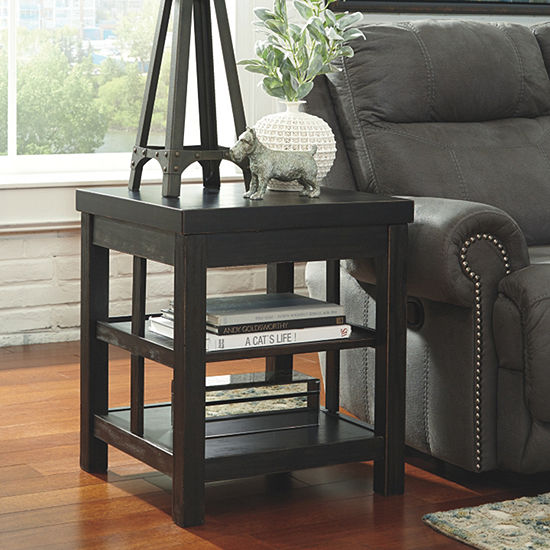 Signature Design By Ashley Gavelston Square End Table