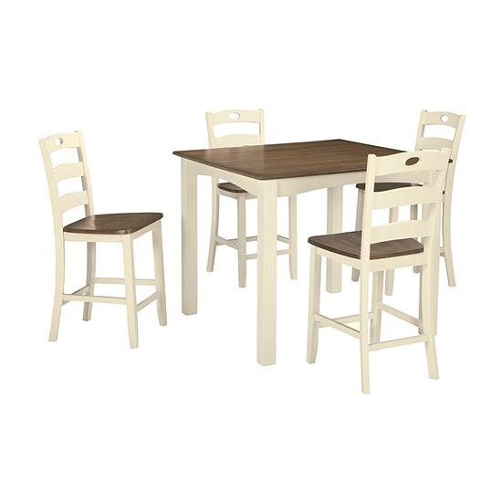 Signature Design by Ashley®  Milford 5-Piece Square Counter Height Dining Set