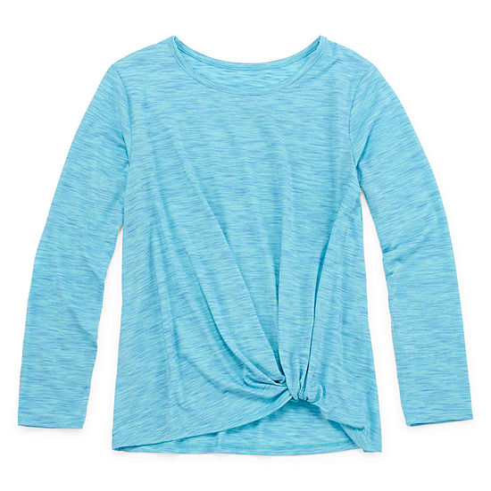 Xersion Girls Round Neck Long Sleeve Tunic Top Preschool / Big Kid