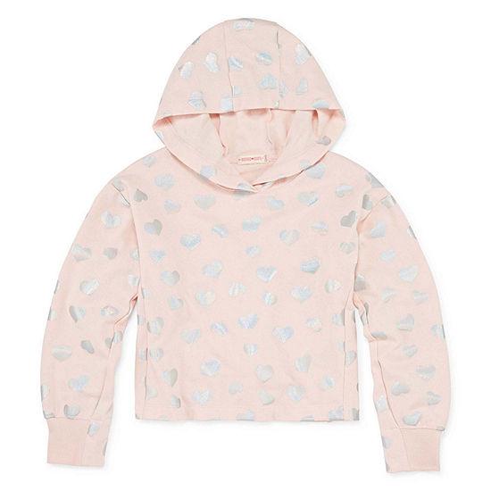 Inspired Hearts Girls Fitted Sleeve Hoodie - Preschool / Big Kid