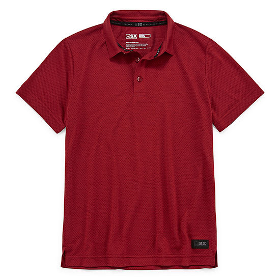 Msx By Michael Strahan Boys Johnny Collar Short Sleeve Polo Shirt - Big Kid