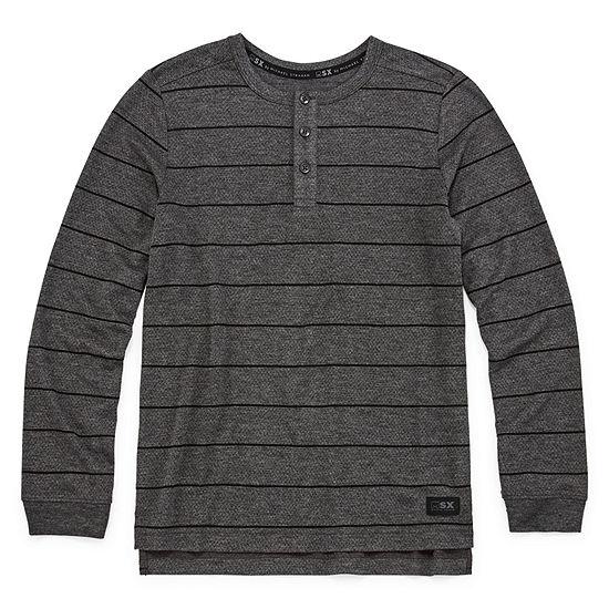 Msx By Michael Strahan Boys Long Sleeve Henley Shirt - Big Kid Husky