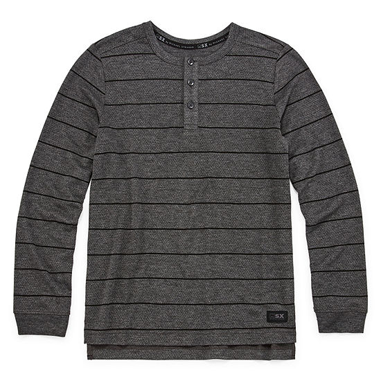 Msx By Michael Strahan Boys Long Sleeve Henley Shirt - Big Kid