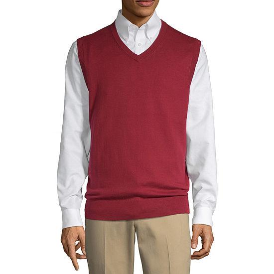 St. John's Bay Mens V Neck Sweater Vest