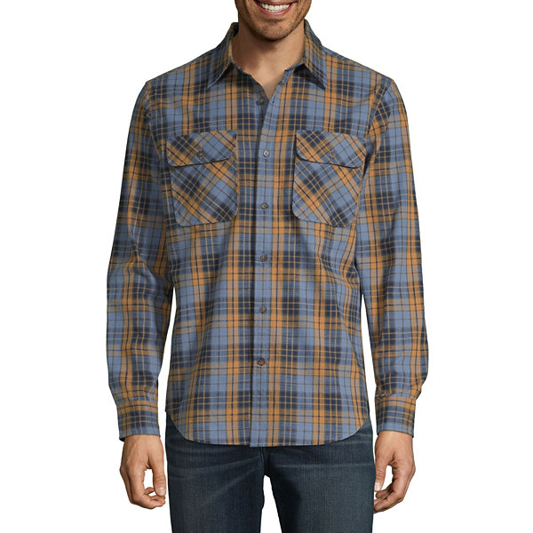 St. John's Bay Outdoor Rugged Mens Long Sleeve Flannel Shirt