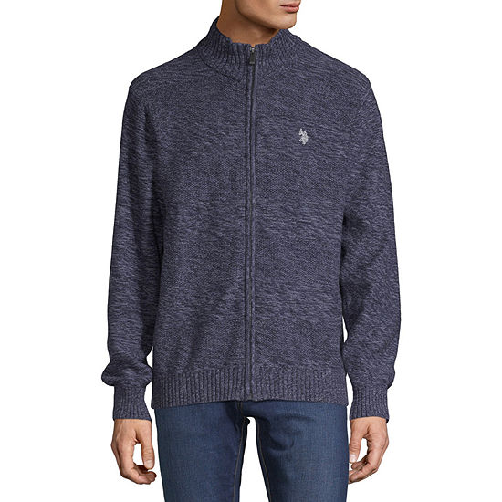 U.S. Polo Assn. Mens Mock Neck Long Sleeve Layered Sweaters