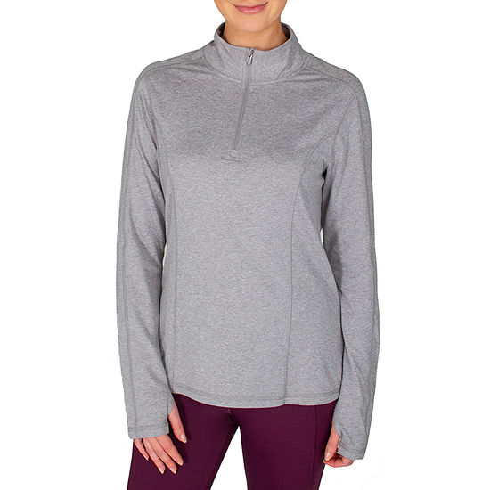 Jockey Womens High Neck Long Sleeve Quarter-Zip Pullover