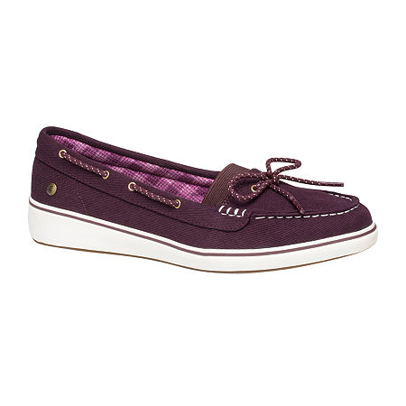 Grasshoppers Womens Augusta Slip-On Shoes, 7 Medium, Purple