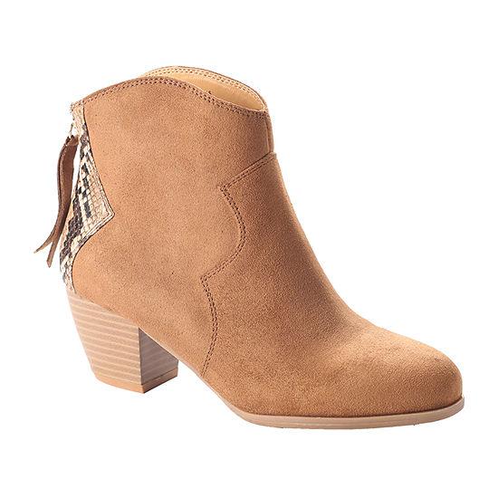 Dolce By Mojo Moxy Womens Napa Block Heel Booties