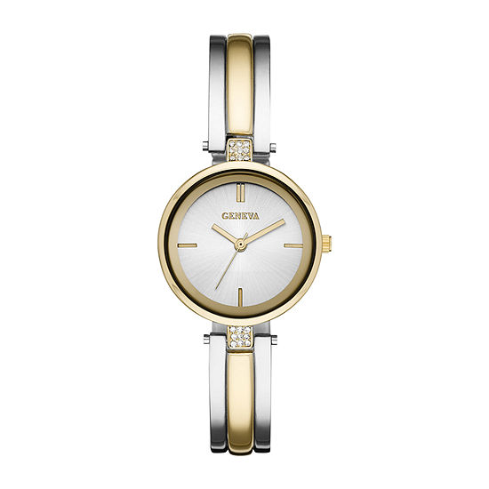 Geneva Womens Two Tone Bangle Watch-Fmdjm199