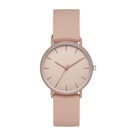 Womens Pink Strap Watch-Fmdjo160