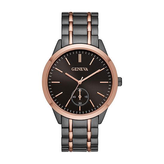 Geneva Mens Two Tone Bracelet Watch-Fmdjm596