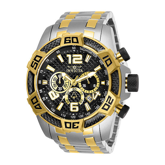 Invicta Pro Diver Mens Chronograph Two Tone Stainless Steel Bracelet Watch-25856