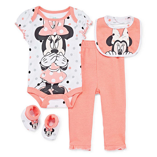 Disney Girls 4-pc. Mickey and Friends Baby Clothing Set-Baby