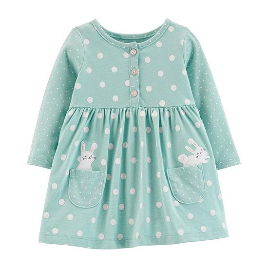 Carters Long Sleeve Babydoll Dress Baby Girls