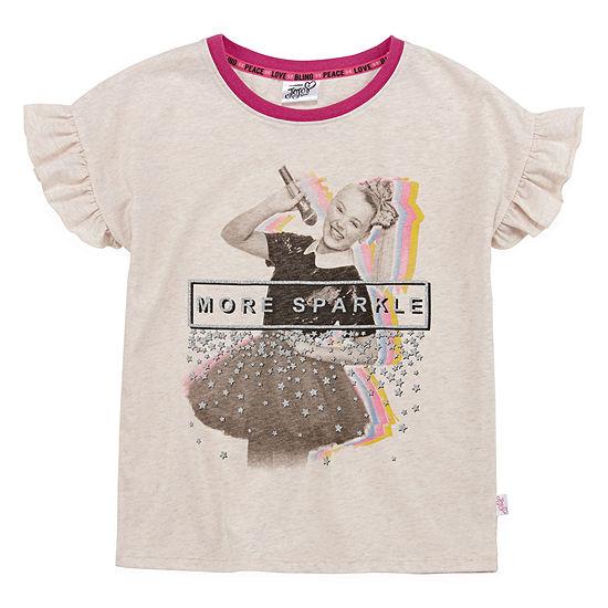 Jojo Siwa Little Kid / Big Kid Girls Crew Neck Short Sleeve Blouse