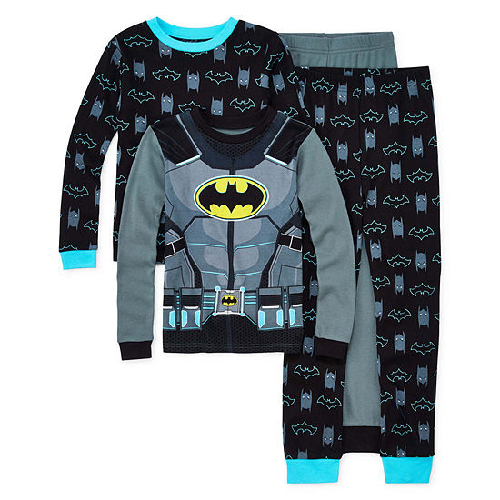 Warner Bros Little & Big Boys 4-pc. Batman Pajama Set