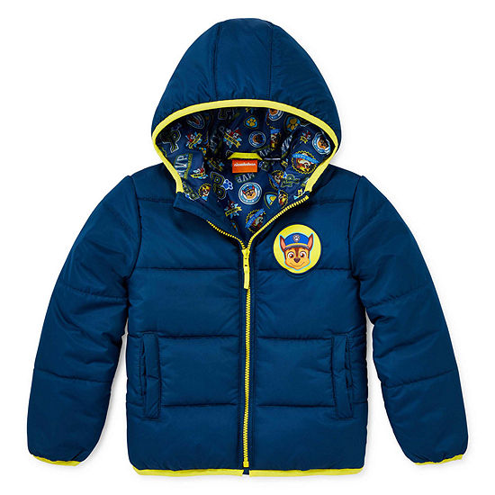 Boys Outerwear - Boys Paw Patrol Hooded Heavyweight Puffer Jacket-Preschool