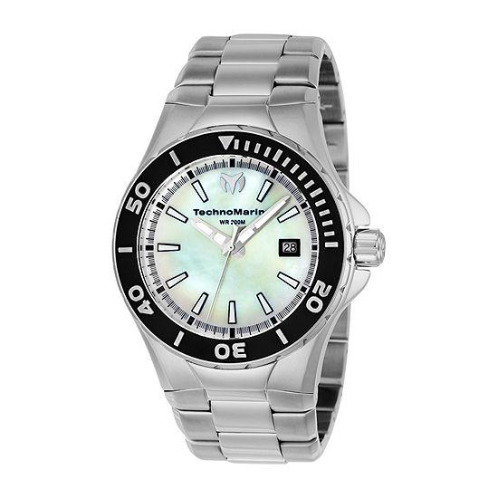 Techno Marine Mens Silver Tone Stainless Steel Bracelet Watch-Tm-216004