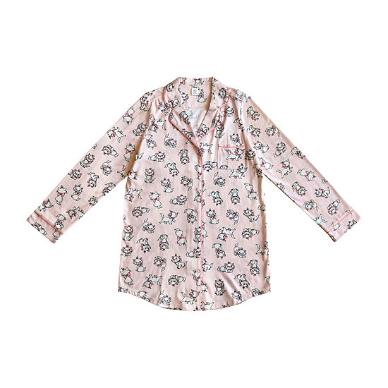 Womens-Juniors Nightshirt Long Sleeve