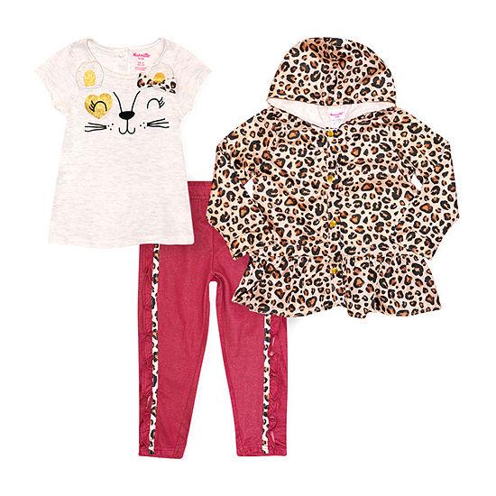 Nannette Baby Toddler Girls 3-pc. Pant Set
