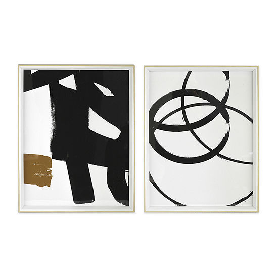 Black White Graphic 2-pc. Wall Sign