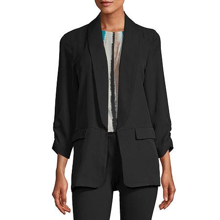 Worthington Womens Regular Fit Blazer, X-small , Black