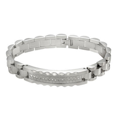 Men's 1/5 CT. T.W. Diamond Stainless Steel Bracelet