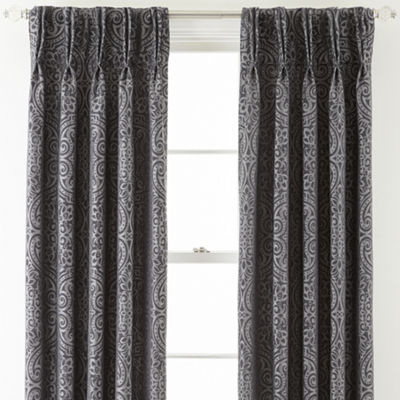Royal Velvet® Colebrook Pinch-Pleat Damask Curtain Panel