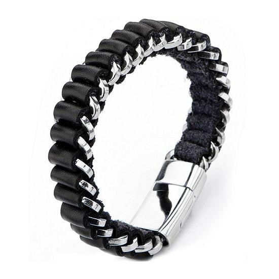 Inox Mens Jewelry Stainless Steel Wrap Bracelet