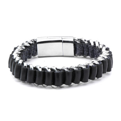 Inox Mens Jewelry Mens Stainless Steel Wrap Bracelet