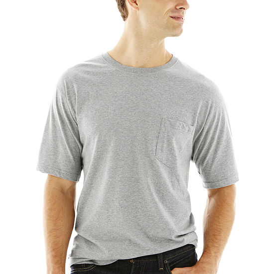 Stafford® Performance Cotton Heavyweight Crewneck Pocket Tee