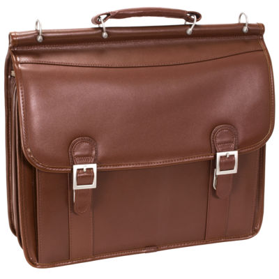 """McKleinUSA Halsted 15.6"""" Leather Double Compartment Laptop Briefcase"""
